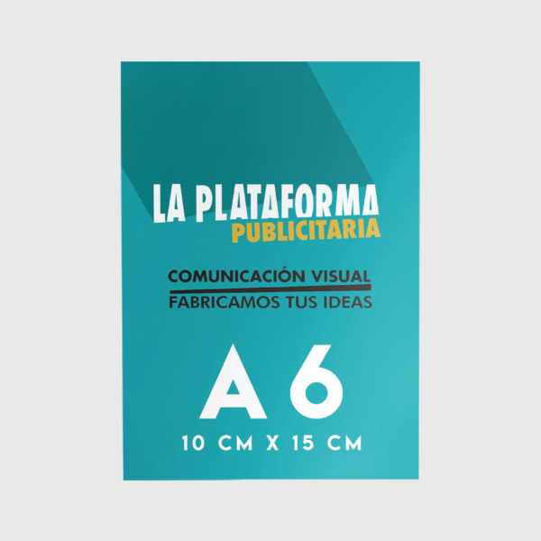 Productos - Flyers A6 (Low Cost)